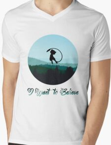 I Want to Believe in Mew Mens V-Neck T-Shirt
