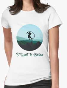I Want to Believe in Mew Womens Fitted T-Shirt