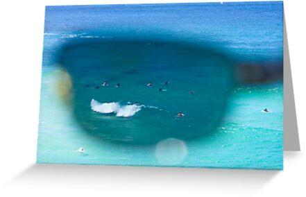 The Surfers At Tamarama Beach - Sydney by Bryan Freeman
