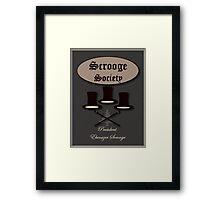 Scrooge society Framed Print