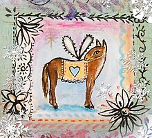 christmas angel donkey by sue mochrie
