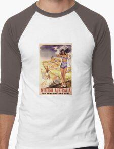 1950 Western Australia Men's Baseball ¾ T-Shirt