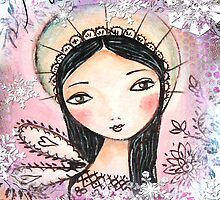 christmas rosa angel by sue mochrie