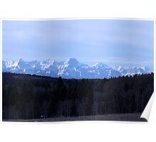 Driving View, Alberta, Canada, 2010. Poster