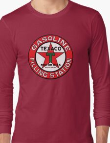 TEXACO VINTAGE OLD GASOLINE MOTOR Long Sleeve T-Shirt
