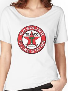 TEXACO VINTAGE OLD GASOLINE MOTOR Women's Relaxed Fit T-Shirt
