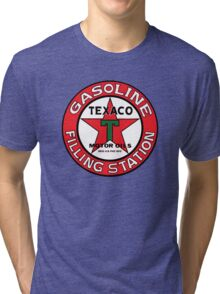 TEXACO VINTAGE OLD GASOLINE MOTOR Tri-blend T-Shirt