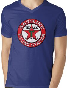 TEXACO VINTAGE OLD GASOLINE MOTOR Mens V-Neck T-Shirt