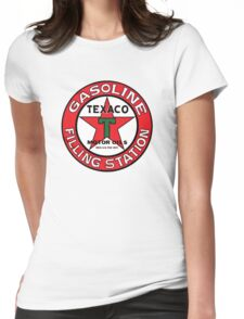 TEXACO VINTAGE OLD GASOLINE MOTOR Womens Fitted T-Shirt