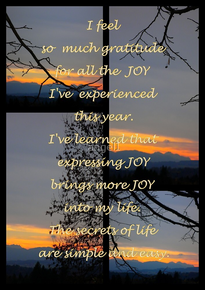 """I feel so much gratitude featured in """"Inspirational Greeting Cards"""" by ©The Creative  Minds"""