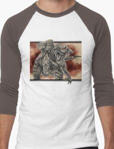 Cybernetic Hybrid Dinosaur Men's Baseball ¾ T-Shirt