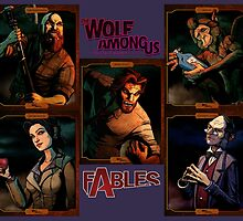 The Wolf Among Us - Portrait Collage by Sacredrite