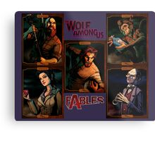 The Wolf Among Us - Portrait Collage Metal Print