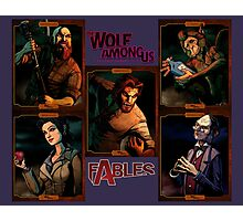 The Wolf Among Us - Portrait Collage Photographic Print