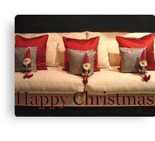 3 Christmas Elves Canvas Print