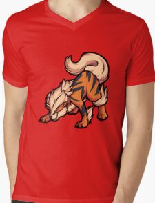 Arcanine Mens V-Neck T-Shirt