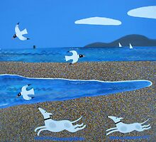 Whippets On the Run by Amanda White