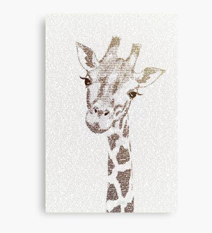 The Intellectual Giraffe Canvas Print