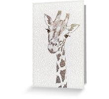 The Intellectual Giraffe Greeting Card