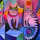 Rainbow cats by Karin Zeller