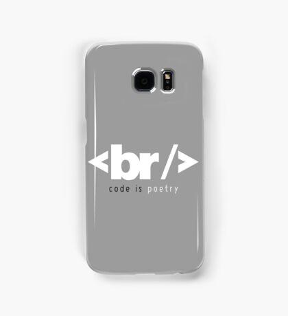 code is poetry Samsung Galaxy Case/Skin