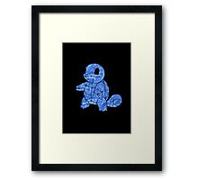 Pokemon: Textured - Squirtle Framed Print