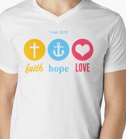 Faith, Hope & Love Mens V-Neck T-Shirt