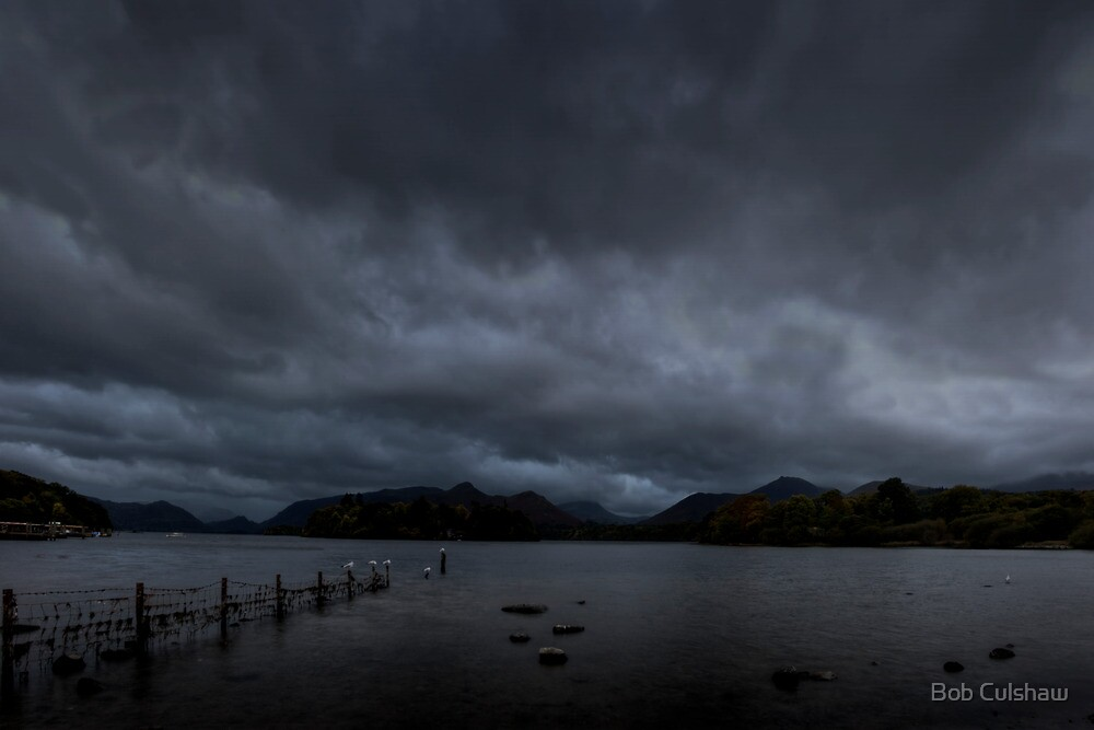 Moody Evening at Derwentwater, Cumbria, England by Bob Culshaw