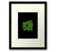 Pokemon: Textured - Bulbasaur Framed Print