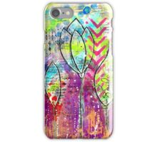 Mixed Media Flowers iPhone Case/Skin