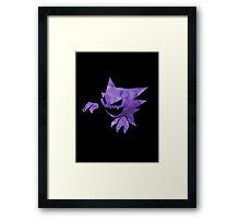 Pokemon: Textured - Haunter Framed Print