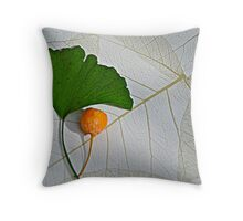 Gingko-leaf & fruit Throw Pillow