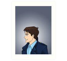Captain Jack Harkness Profile Art Print