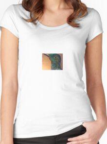 Hummingbird Head Women's Fitted Scoop T-Shirt
