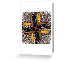 A Bird of Paradise Kaleidoscope v1 Greeting Card