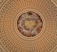 Inside the Dome of the U.S. Capital Building in Washington D.C. by mikepaulhamus