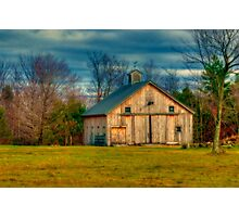 Barn on Valley Road Photographic Print