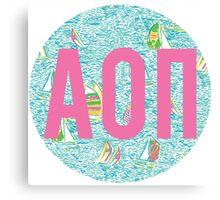 AOII LP Boats Circle Canvas Print