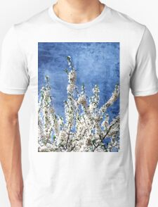 Cherry Blossoms on Blue T-Shirt