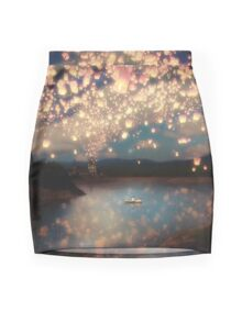 Wish Lanterns for Love Mini Skirt
