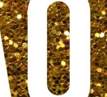 Glitter AOII Circle Sticker