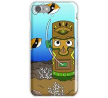 Tiki Goes Diving iPhone Case/Skin