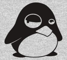 TUX Penguin in a bad mood, LINUX One Piece - Short Sleeve