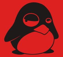 TUX Penguin in a bad mood, LINUX One Piece - Long Sleeve