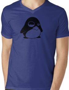TUX Penguin in a bad mood, LINUX Mens V-Neck T-Shirt