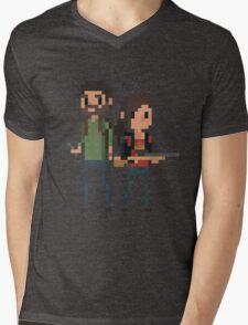 Pixel Joel & Ellie Mens V-Neck T-Shirt