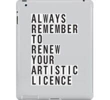 LICENCE RENEWAL iPad Case/Skin