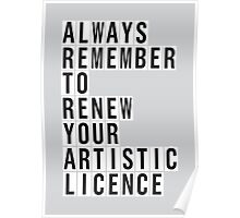 LICENCE RENEWAL Poster