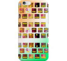 A-Z animals keyboard iPhone Case/Skin