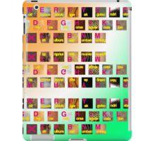 A-Z animals keyboard iPad Case/Skin